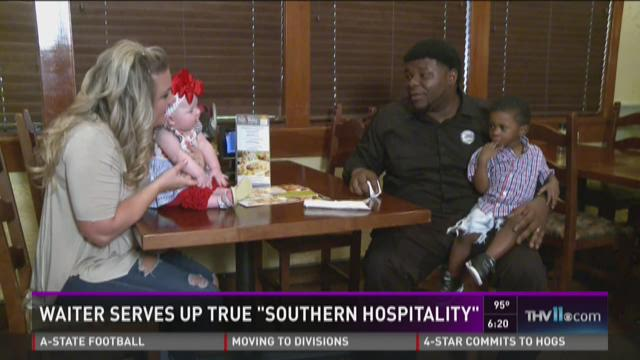 Waiter goes above and beyond to help Ark. mom, baby