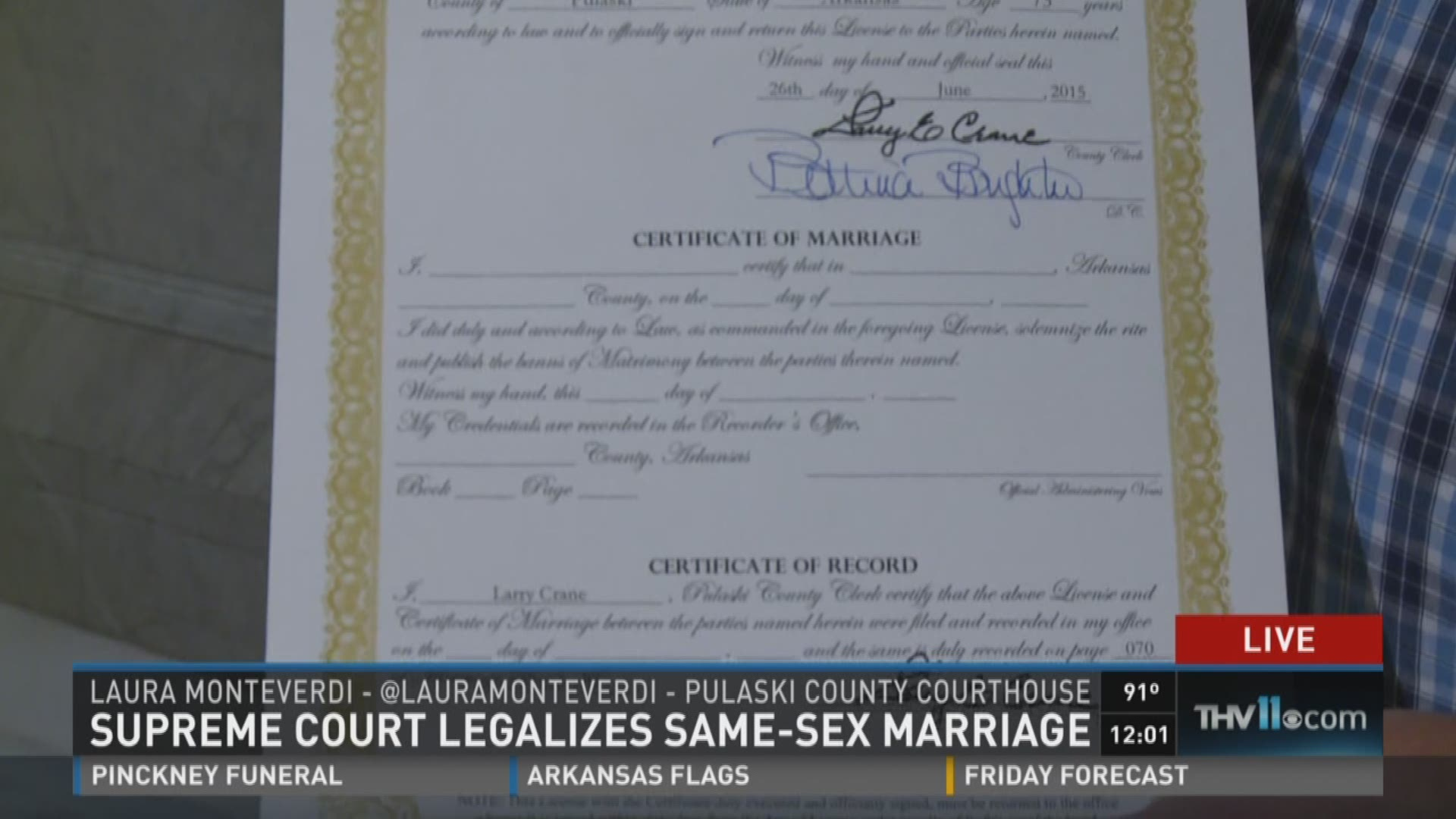 The Latest: How does same-sex marriage ruling impact Arkansas?
