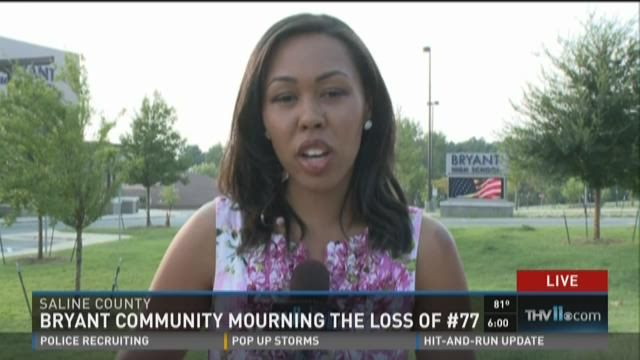 THV11's Macy Jenkins live in Bryant mourning loss of player