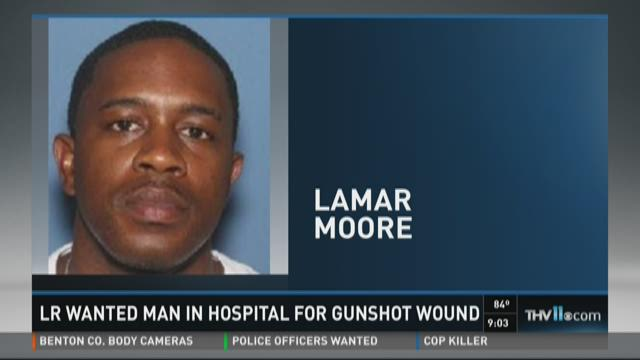 LR wanted man in hospital for gunshot wound