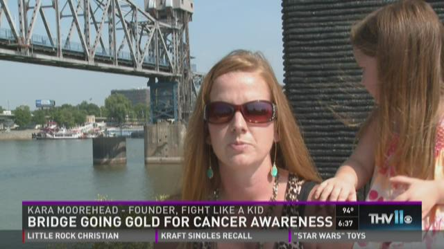 Watch Interview: Bridge going gold for cancer awareness