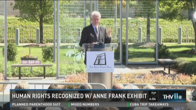 Watch Story: Human rights recognized with Anne Frank Exhibit