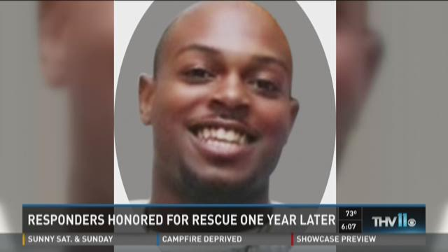 Watch Story: Responders honored for rescue one year later