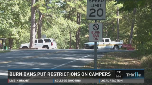 Watch Story: Burn bans put restrictions on campers