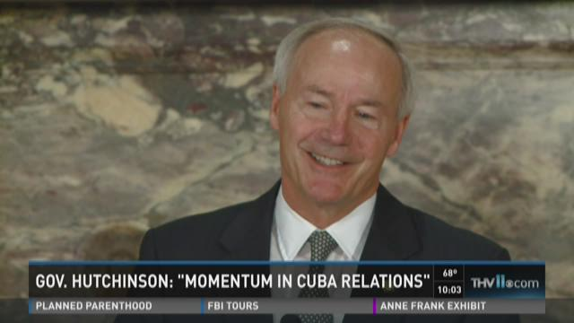 "Watch Story: Gov. Hutchinson: ""Momentum in Cuba relations"""