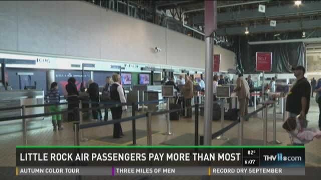 Watch Report: Little Rock airport travelers paying more than national average