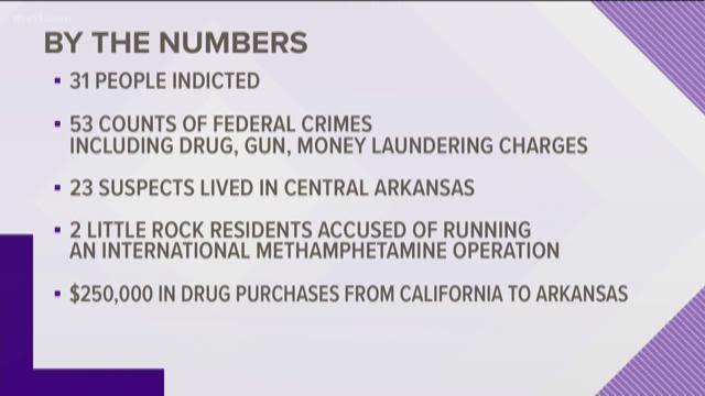 31 arrested in drug smuggling crackdown